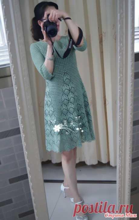 [Вязание] Платье крючком из японского журнала. Мастер-класс