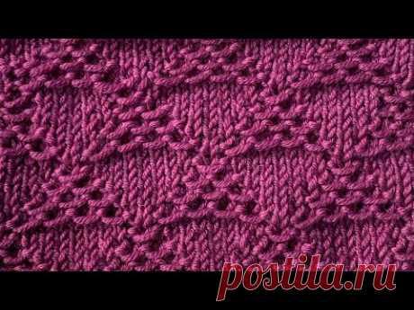 "ШИКАРНЫЙ УЗОР СПИЦАМИ ""Ribbed Triangulars"" / Beautiful Knitting Pattern"
