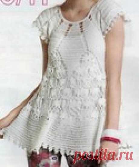 Платье-туника детское крючком