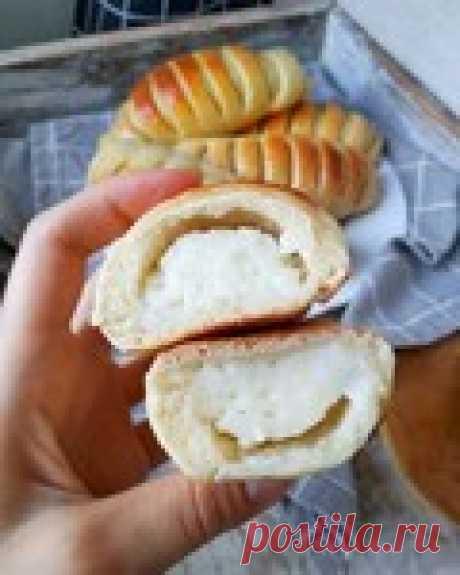 Мягкие,ароматные и очень вкусные-булочки с заварным кремом