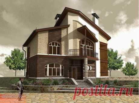 «Двухэтажный коттедж с мансардой.» — карточка пользователя Виктор в Яндекс.Коллекциях