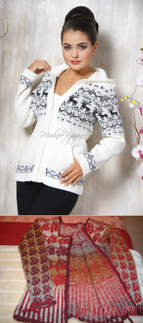 How to knit the Norwegian patterns and Jacquard without broaches - Modnoe Vyazanie ru.com
