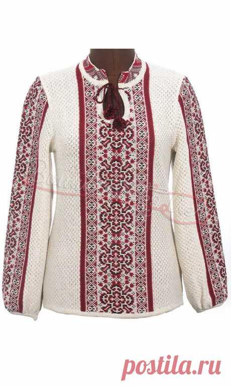Женская вязаная вышиванка 5220 купить в интернет-магазине