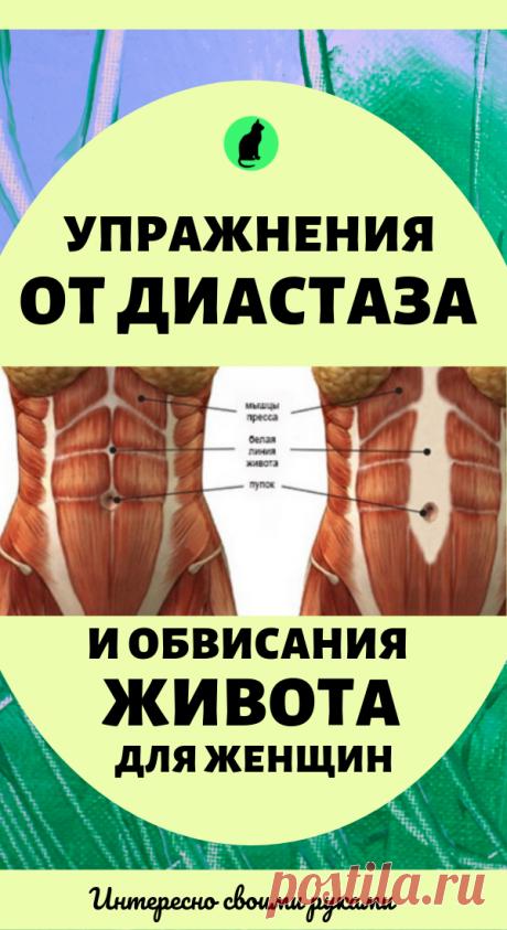 Упражнения от диастаза и обвисания живота для женщин. Здоровье и красота в домашних условиях