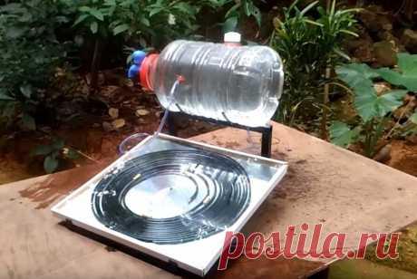 Сделал бесплатную горячую воду из бутылки и медной трубки без электричества. Показываю процесс изготовления умывальника | Батины лайфхаки | Яндекс Дзен