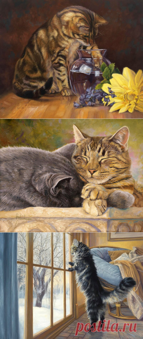 Кошки в работах Lucie Bilodeau