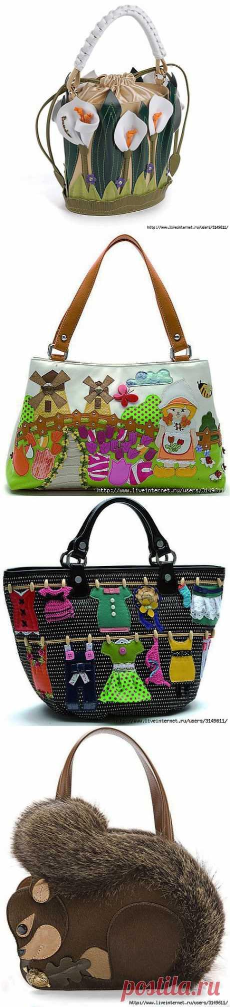 Женские сумки итальянской компании Braccialini - как источник вдохновения для рукоделия.
