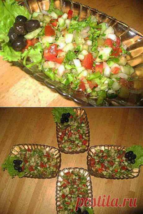 Чобан- салат (турецкая кухня).
