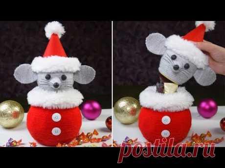 Мышка c сюрпризом под елку на Новый год! Символ 2020 года!