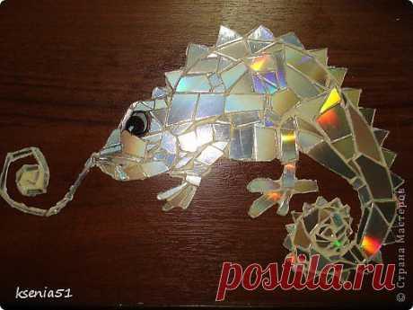 Мозаика из CD-дисков