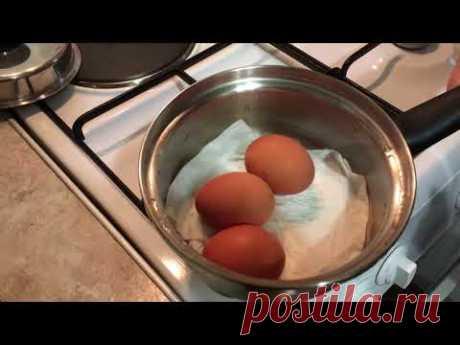 Как сварить яйца без воды