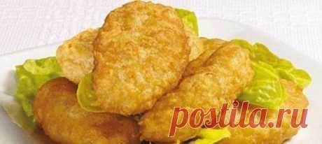 Хрустящие куриные наггетсы как в макдональдсе - нет,даже лучше.