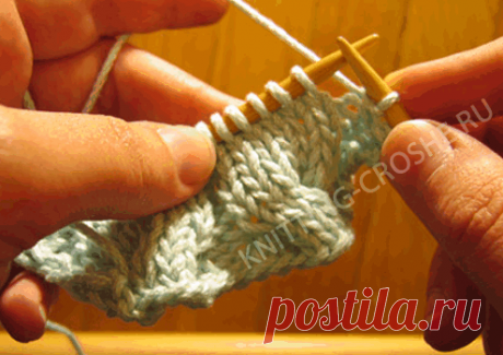 How to knit a braid without additional spoke