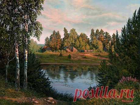 Зорь сусальное сиянье. Зорь сусальное сиянье плавит воздух над рекой, ив до глади вод касанье, шлейф волнистых облаков.