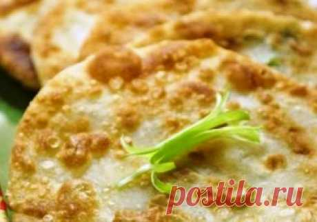 Китайские лепешки с зеленым луком | Лакомка