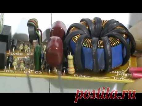Индукционный нагреватель из электронного трансформатора