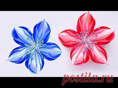 МК Волшебный цветок Канзаши. 簪 Kanzashi DIY