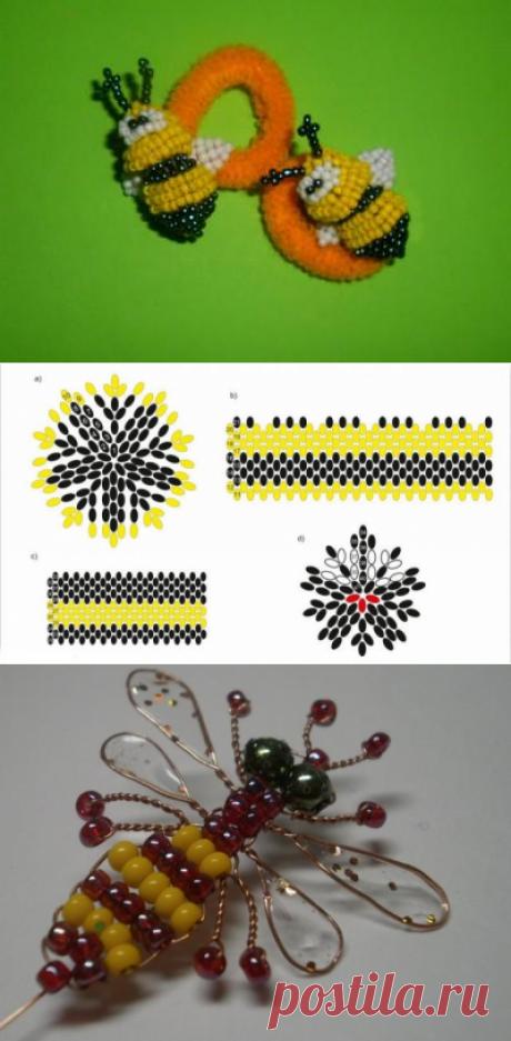 Как сплести пчелу из бисера: инструкция со схемами | Domigolki.ru