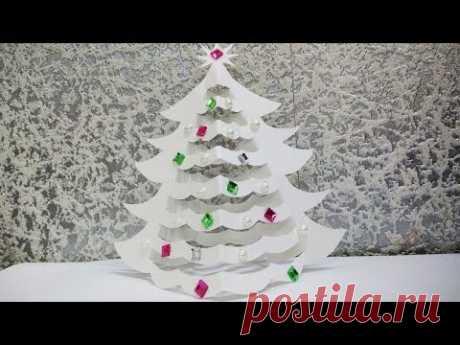 ЕЛОЧКА ИЗ БУМАГИ НУ ОООООЧЕНЬ ПРОСТО СДЕЛАТЬ Christmas tree made of paper just