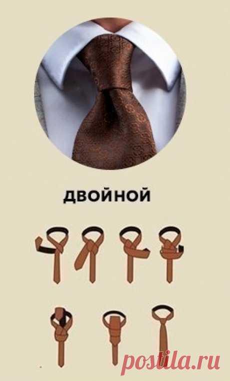 6 популярных узлов на галстуке