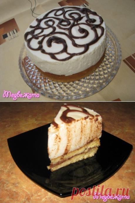 Торт-суфле «Птичье молоко» (без сырых яиц и масла) : Торты, пирожные
