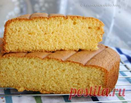 Бисквит на горячем молоке ( Вкусненький! Мягенький...)))