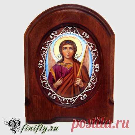 Икона Святой Ангел Хранитель Финифть