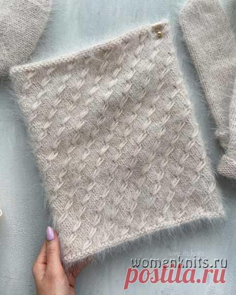 Снуд спицами от love_its_knits Описание: https://womanknits.ru/vyazanie-dlya-zhenshchin/sharfy-snudy-palantiny/snud-spitsami-ot-love-its-knits