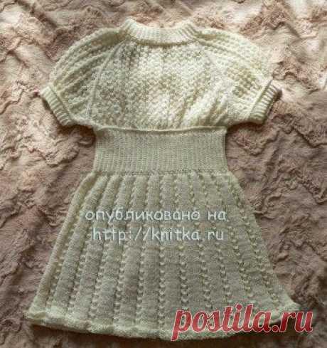 Платье для девочки из микрофибры. Платье для девочки 3-4 лет из пряжи. Пряжа Alize DIVA STRETCH, микрофибра, эластан (100г/400м)