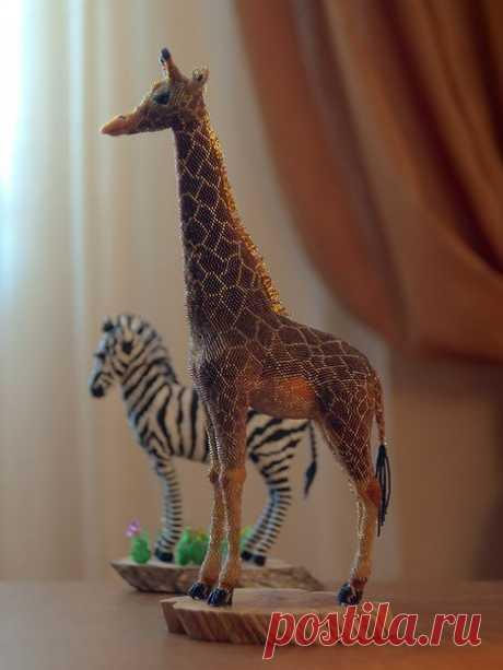 Животные из бисера от Zhanna Vasilieva 🐥🐰🐨 Потрясающие фигурки в дом 👍