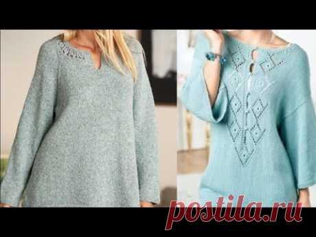 Женская туника спицами со схемами - Women's tunic with knitting needles with patterns