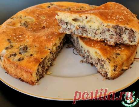 Заливной мясной пирог – кулинарный рецепт