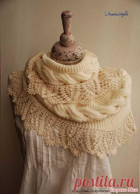 Vyazalochki: Как связать красивый шарф-снуд Стефания