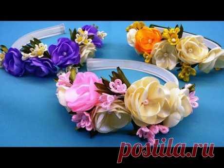 Spring hairband.DIY/Banda de pelo de primavera/Весенний ободок для волос.МК