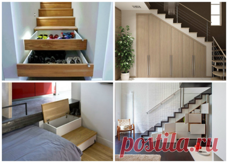 Шкаф в лестнице: рационально используем место в доме | flqu.ru - квартирный вопрос. Блог о дизайне, ремонте