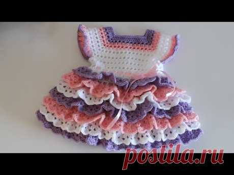 Crochet #13 How to crochet a layered baby dress
