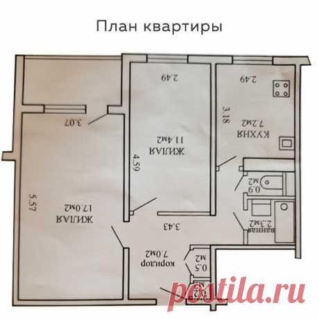 Интерьер двухкомнатной квартиры с элементами скандинавского стиля