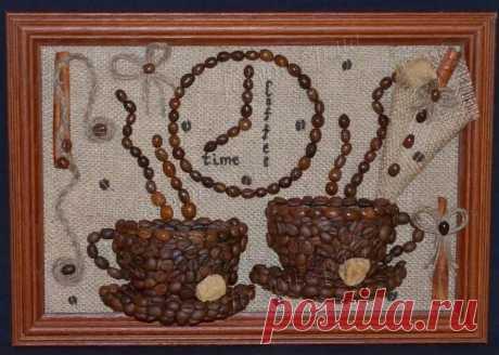 Поделки из кофейных зерен пошагово Поделки из кофе не только интересно выглядят, но и имеют прекрасный аромат. Работа может стать украшением вашего интерьера или оригинальным подарком для друзей. Узнайте, как создать необычную поделку ...