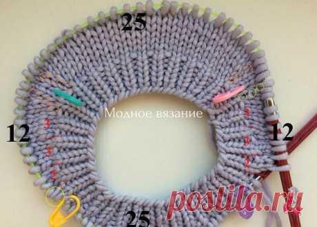 Мастер-класс бесшовного свитера с круглой горловиной и расчеты ростка
