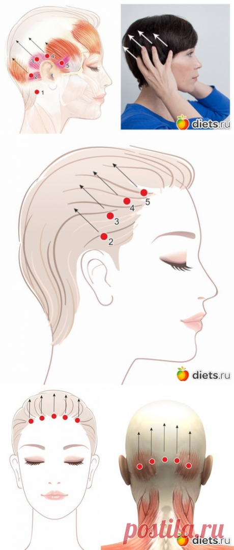 Активируем мышцы свода черепа: базовые упражнения для лифтинга лица (часть2)