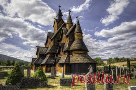 Heddal stave church, Telemark, Norway 3 exp