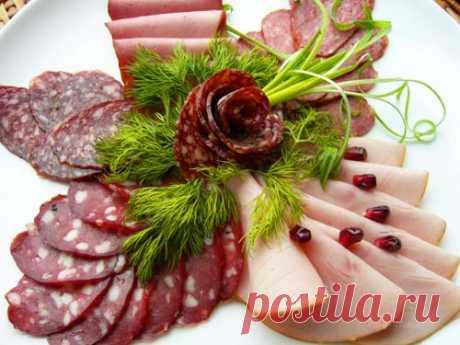 Праздничная нарезка: мясная тарелка. Супер коллекция - Простые рецепты Овкусе.ру