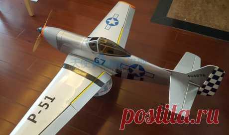 Новое прибытие DIY пробкового дерева 1200 мм размах крыльев P51 RC Warbird самолета купить на AliExpress