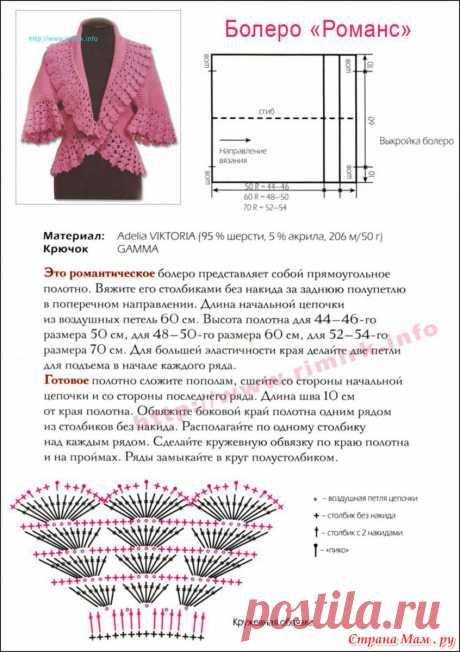 Болеро спицами - 7 моделей со схемами, описанием и видео мк