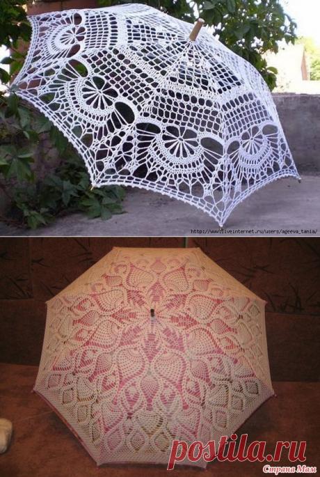 Очень красивые ажурные зонтики крючком: мастер-класс и схемы - Рукодельные идеи