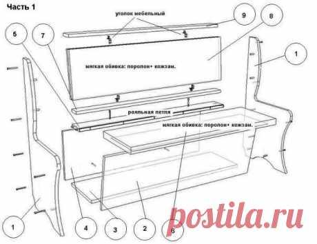 Кухонный уголок своими руками - чертежи, пошаговые инструкции - как обновить мебель: фото и видео-уроки, цена