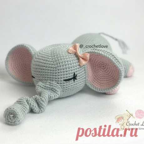 1000 схем амигуруми на русском: Слоник-сплюшка крючком