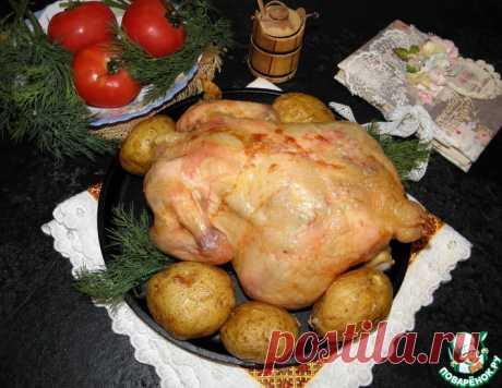 """Курица с картофелем """"Все гениальное-просто!"""" – кулинарный рецепт"""