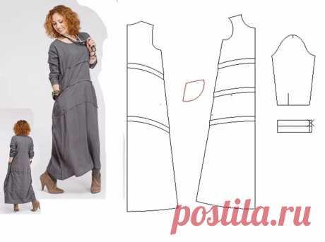 Выкройка платья в стиле бохо — DIYIdeas