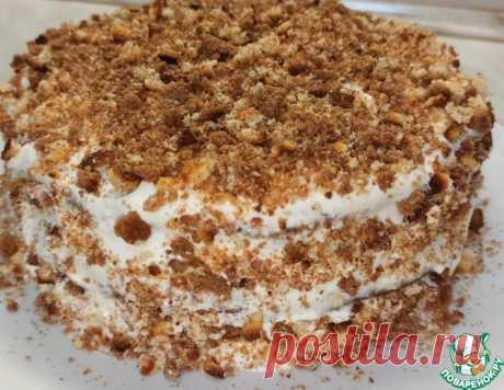 Быстрый торт на сгущёнке со сметанным кремом – кулинарный рецепт